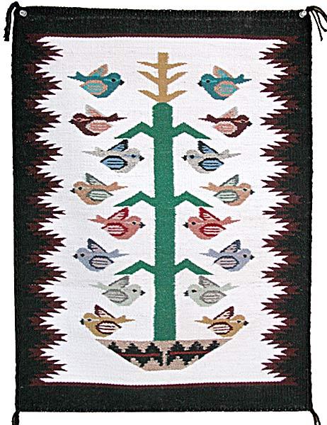 Lisa Jones Navajo Tree Of Life Weaving From Penfield