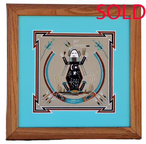 Alta Yazzie Navajo Sandpainter Penfield Gallery Of
