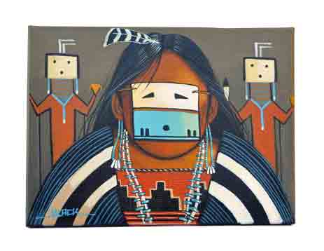 Jack Black | Navajo  Yei Lady Painting | Penfield Gallery of Indian Arts | Albuquerque, New Mexico
