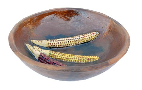 Jonathan Chee | Navajo Corn Bowl | Penfield Gallery of Indian Arts | Albuquerque, New Mexico