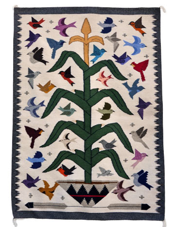 Lena Begay | Navajo Tree of Life Weaving | Penfield Gallery of Indian Arts | Albuquerque, New Mexico