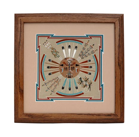 Lester Johnson | Navajo Sandpainting | Penfield Gallery of Indian Arts | Albuquerque, New Mexico