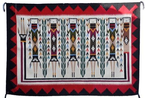 Marilyn Blackie Navajo Shiprock Yei Weaving Penfield