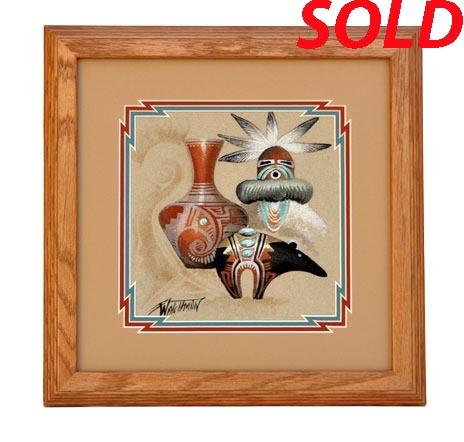 Michael Watchman Navajo Sandpainting Penfield Gallery Of