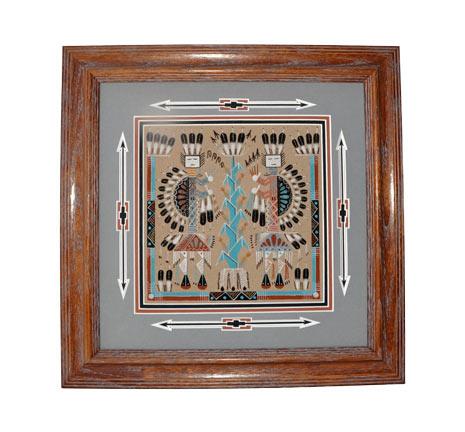 Navajo Sandpainting Orlando Myerson Penfield Gallery Of