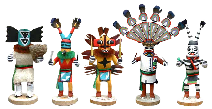 Kachina Dolls by Adrian Leon from Penfield Gallery of Indian Arts