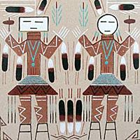 Navajo Sandpaintings Penfield Gallery Of Indian Arts Albuquerque